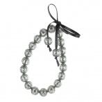 Paillette bracelet dark silver