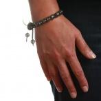 Paillette bracelet dark silver Over