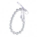Paillette bracelet silver