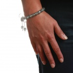 Paillette bracelet silver Over