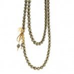 Paillette long necklace dark gold