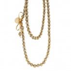 Paillette long necklace gold