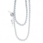 Paillette long necklace silver