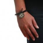 Bracelet Camélia paillette argent Over