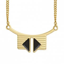 Marcus necklace black - Anne Thomas