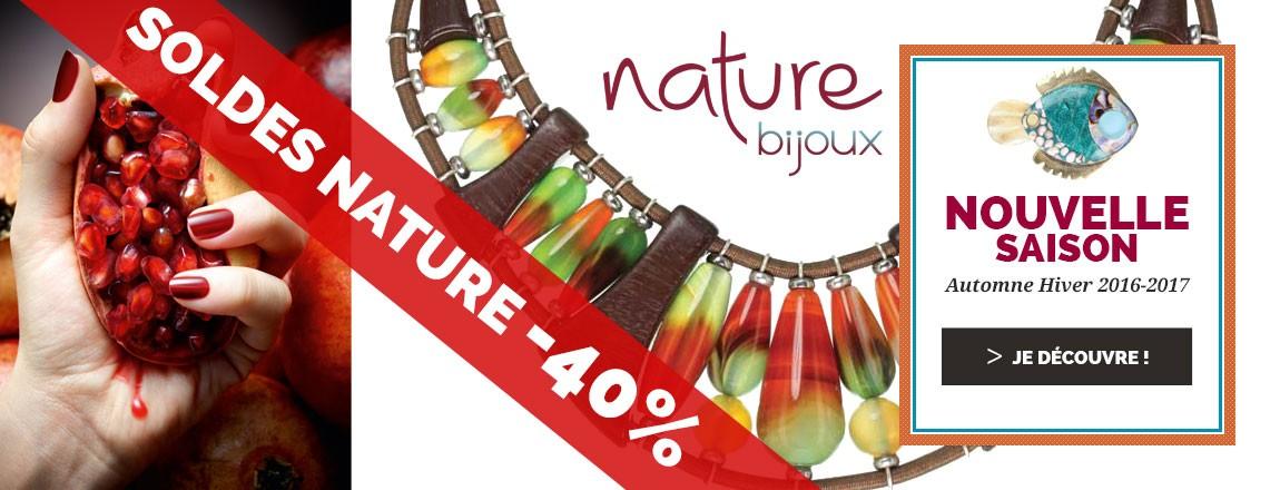 SOLDES Nature Bijoux : -40% sur toute la collection HIVER 2016