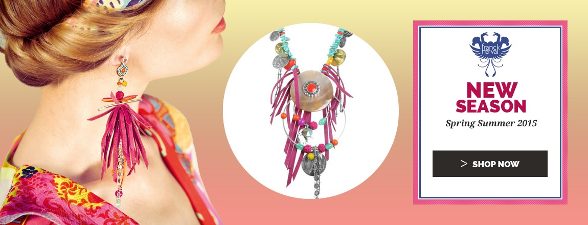 Shop Now the new Spring Summer 2015 Franck Herval Jewelry Collection