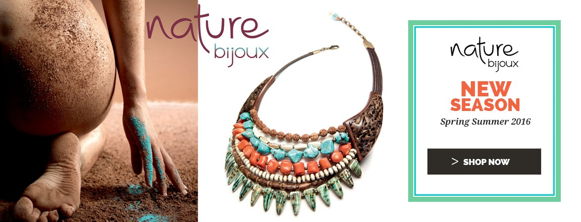 Shop Now the new Spring Summer 2017 Nature Bijoux jewellery Collection