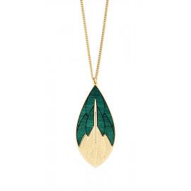 Colored leaves short necklace Physalis - Amélie Blaise