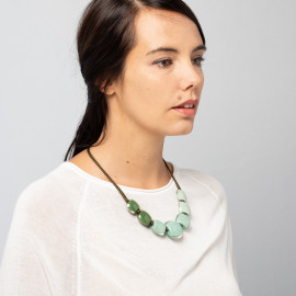 Collier pistache 7 perles Belissima - Zsiska