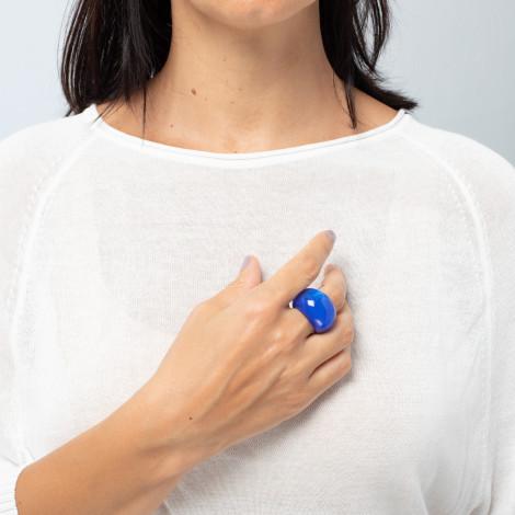 Bague bleu foncé Colourfulbeads