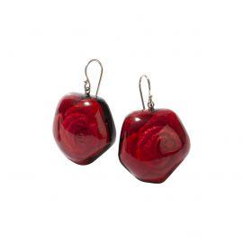 Boucles d'oreilles pendantes Rose Frida rose - Zsiska