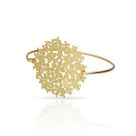 Bracelet clip hortensia or - Ras