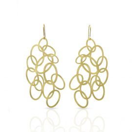 Gold circles earrings - Ras