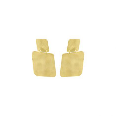 Boucles d'oreilles carrés or