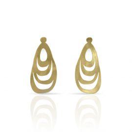 Gold menhir earrings - Ras