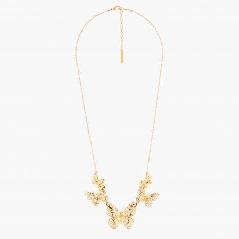 Flying Butterflies Collar Necklace Les belles éphèmères