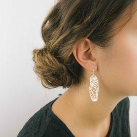Boucles d'oreilles nature argent - Ras
