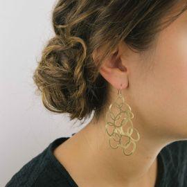 Boucles d'oreilles cercles or - Ras