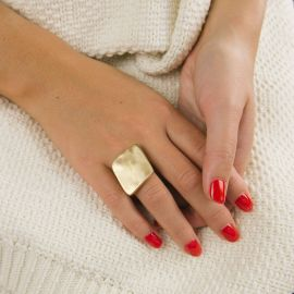 Gold square ring - Ras