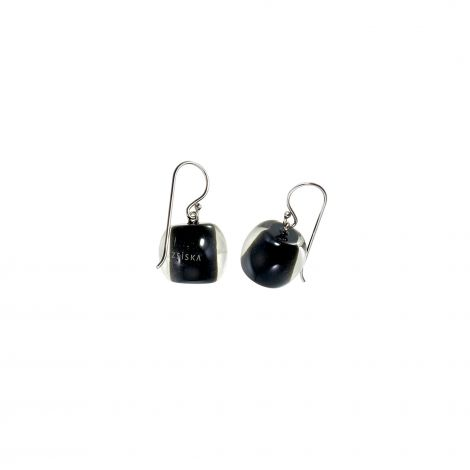 Black 1 bead earrings Colourful beads