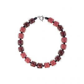 Collier 20 perles rose Colourful beads - ZSISKA