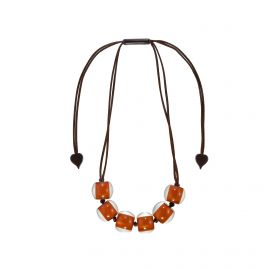 Collier 6 perles rouille Colourful beads -