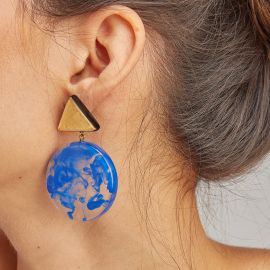 2 beads earrings Athena - ZSISKA