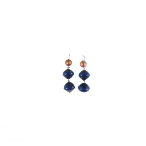 Boucles d'oreilles 2 perles Malai