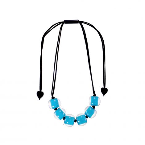 Collier 6 perles sarcelle Colourful beads