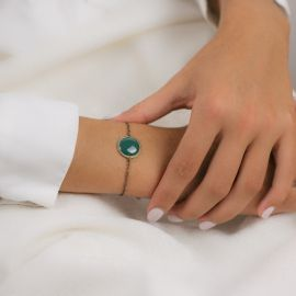 Bracelet Soleil Levant émeraude Les classiques - Amélie Blaise