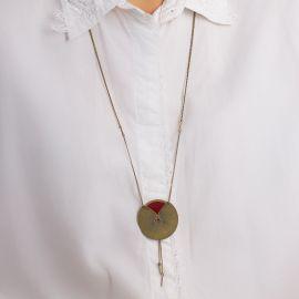 Black currant Kimono long necklace Les classiques - Amélie Blaise