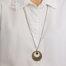 Black currant Camélia long necklace Les classiques - Amélie Blaise