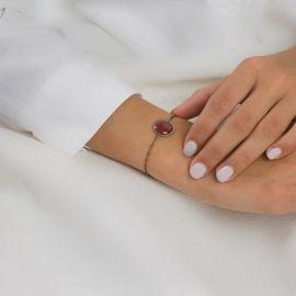 Bracelet Soleil Levant cassis Les classiques - Amélie Blaise