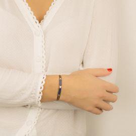 Lapis-Lazuli multi-rounds bracelet No limits - Rosekafé