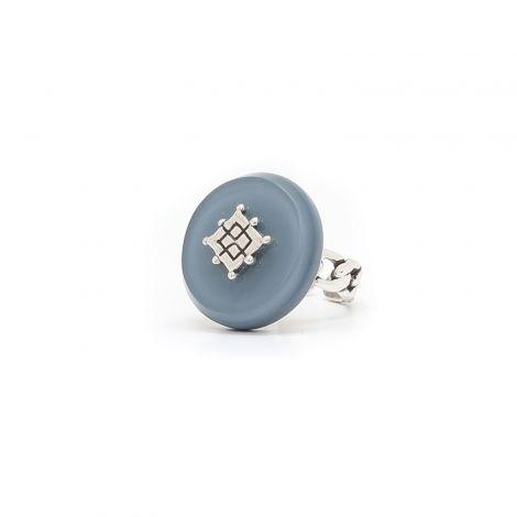 Resin ring asphalt blue