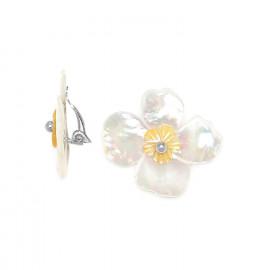 Clips Fleurs de nacre - Nature Bijoux