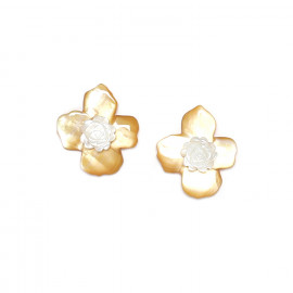 Earrings Fleurs de nacre - Nature Bijoux
