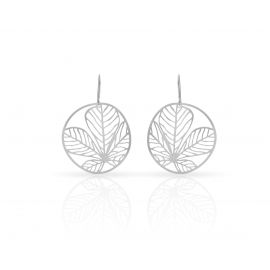 Boucles d'oreilles feuilles argent - RAS