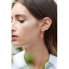 Boucles d'oreilles dormeuses rose La diamantine - Les Néreides