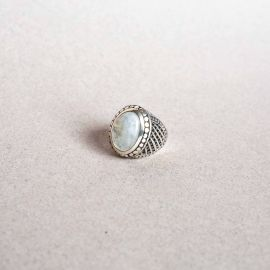 Silver & Blue Moonstone ring - Jalan Jalan