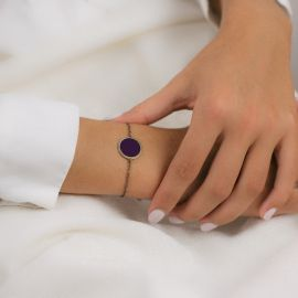 Bracelet Soleil Levant aubergine Les classiques - Amélie Blaise