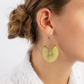 Boucles d'oreilles Kimono jaune d'or Les classiques - Amélie Blaise
