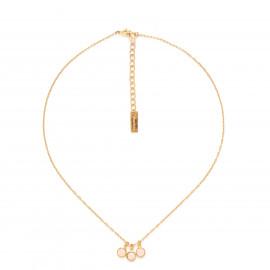 CONFETTIS 3 dangle necklace/peach Confettis - Olivolga