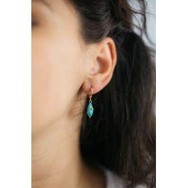 SOUVENIR boucle d'oreilles turquoise Souvenir - Olivolga Bijoux