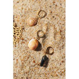SOUVENIR boucle d'oreilles quartz fumé Souvenir - Olivolga