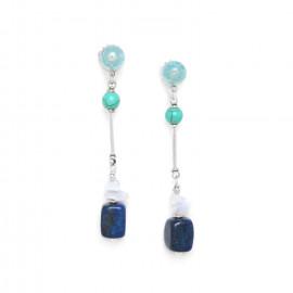 Boucles Blue stones - Nature Bijoux