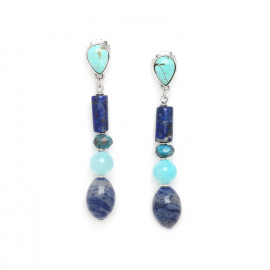 Earrings Blue stones - Nature Bijoux