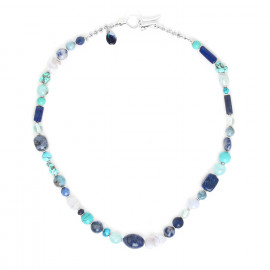 Collier Blue stones - Nature Bijoux
