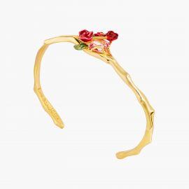 Bracelet Jonc bouquet de roses sur treillis Allons voir si la rose -